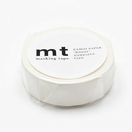 カモ井加工紙 マスキングテープ マットホワイト MT01P208 【× 3 個 】