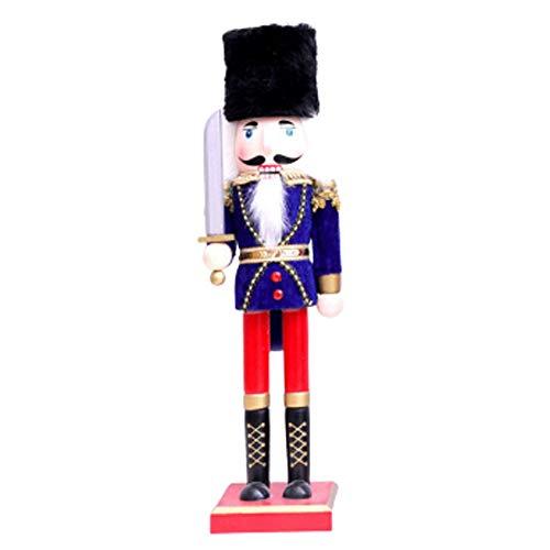 Yuzhijie Cascanueces Rey Soldado Marioneta Decoración del Hogar Creativo Regalo de Navidad Cumpleaños B