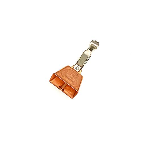 Sanhu 12 Pieces Fishing Copper Cow Bells Alert with Clamp Clip
