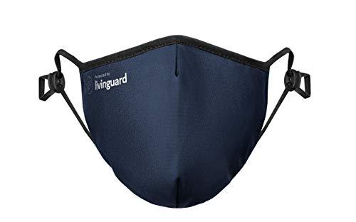 Livinguard – PRO MASK | 3-Lagige Gesichtsmaske | Verstellbar, Waschbar, Wiederverwendbar (Bombay Blue, M)
