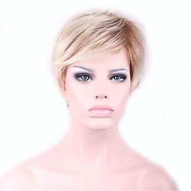 FUHOAHDD Ombre Cortos perucas Pelucas Peluca para Productos del Sexo de Las Mujeres Negras Pelo sintético Pelucas Peinados Perruque