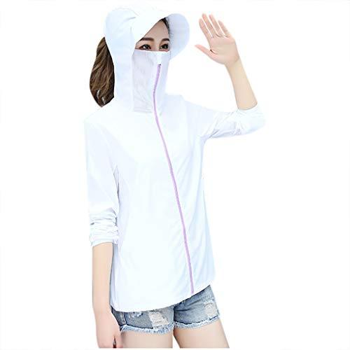 XSJJ - Sportoberbekleidung für Damen in Weiß, Größe 3XL