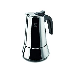 Caffettiera Pezzetti, per piano a induzione, in acciaio Inox, per 2 tazze
