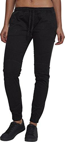 Urban Classics Damen Ladies Biker Jogging Pants Sporthose, Schwarz (Black 00007), 48 (Herstellergröße: 4XL)