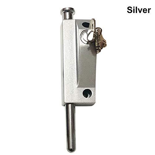 Herewegoo 1 Stks Roestvrij Staal Revolving Glas Deur Lente Beveiliging Latch met Lock Keys