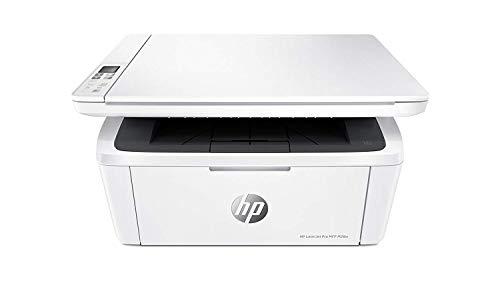 HP LaserJet Pro M28w Stampante Laser Multifunzione Monocromatica, Scanner e Fotocopiatrice, Wi-Fi, Wi-Fi Direct, App HP Smart, Tecnologia Risparmio Energetico, Design Moderno e Compatta, Bianco