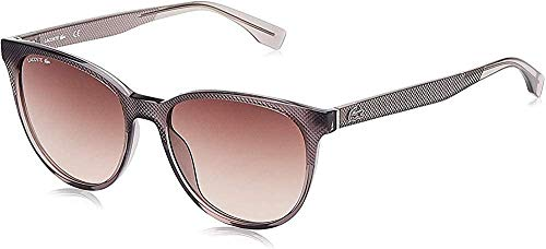 Lacoste L859S - anteojos de sol ovaladas no polarizadas para mujer, color gris, 56 mm, 17 mm, 145 mm