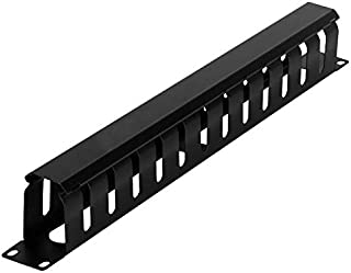 Ethernet Cable Manager organizer metal with 12 slot Rack Mount Horizontal Cable management for network