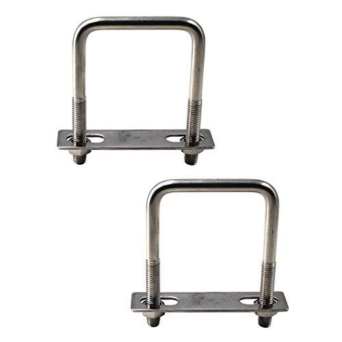 Abrazadera cuadrada de acero inoxidable 304 con perno en forma de U