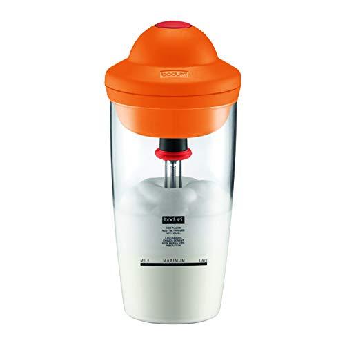 Bodum 10864-106G Bodum Latte - Batidor de leche eléctrico (0,2 l), color naranja