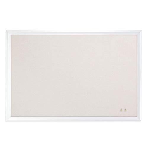 U Brands Cork Linen Bulletin Board, 20 x 30 Inches, White Wood Frame (2074U00-01)
