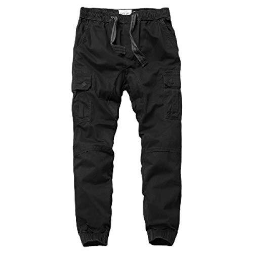 Herren Cargo Pants Elasticated Waist Kordelzug Fashion Stitching Multi-Pocket Kordelzug Casual Streetwear Hose XXL