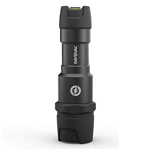Rayovac - DIY3AAA-BE Virtually Indestructible LED Flashlight, 300 Lumen Waterproof Tactical Flashlight - Super Bright High Mode LED Flashlights for Camping, Hiking, Dog walking Black