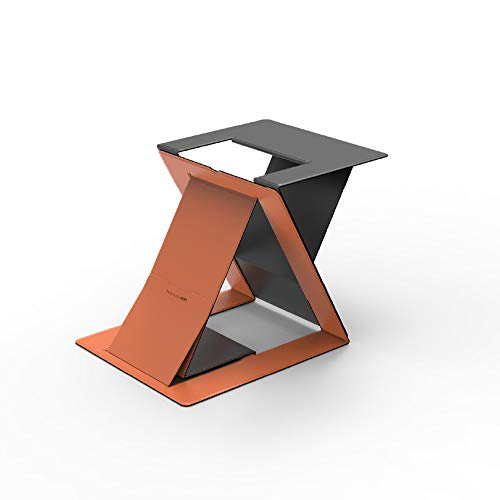 MOFT Z Invisible Thin Sit-Stand Desk, Portable, Ajustable Sit-Stand Angles, Compatible with Most Laptops Orange