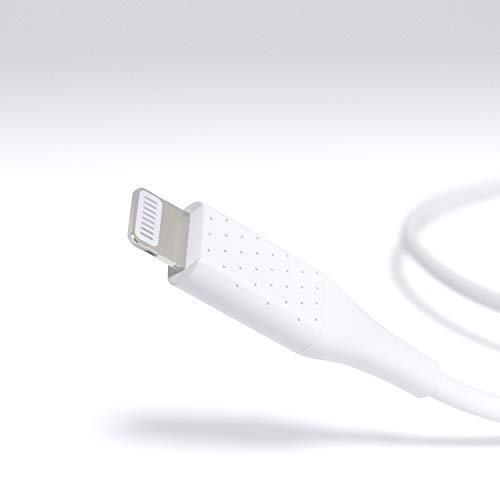 Amazon Basics – Verbindungskabel Lightning auf USB-A, fortschrittliche Kollektion, MFi-zertifiziertes Ladekabel für iPhone, weiß, 30,4 cm