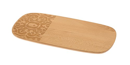 Alessi Mw12 Dressed in Wood Planche à Petit Déjeuner en Bois de Hêtre avec Décoration en Relief