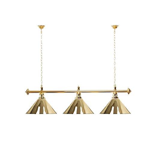 Billardlampe 3 Schirme Gold/Goldfarbene Halterung