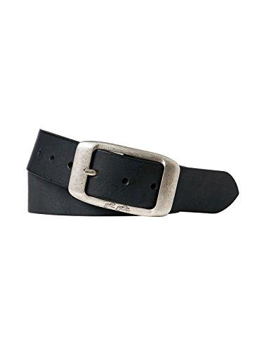 TOM TAILOR für Frauen Belts Leder-Gürtel im Used-Look, Black, 105