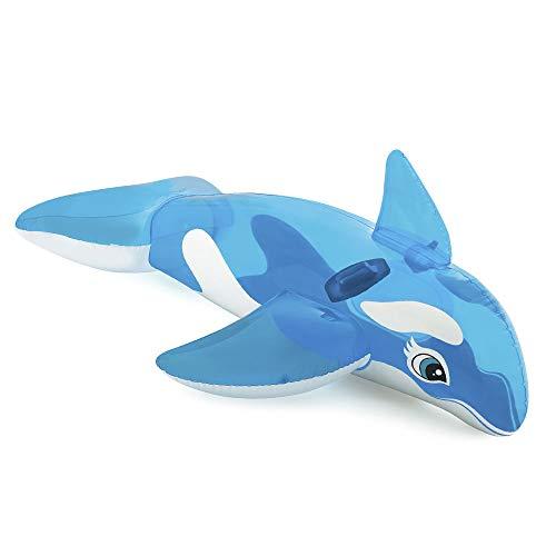 Intex- Disney Cavalcabile Orca, Colore Azzurro/Trasparente, 152 X 114 Cm, 58523
