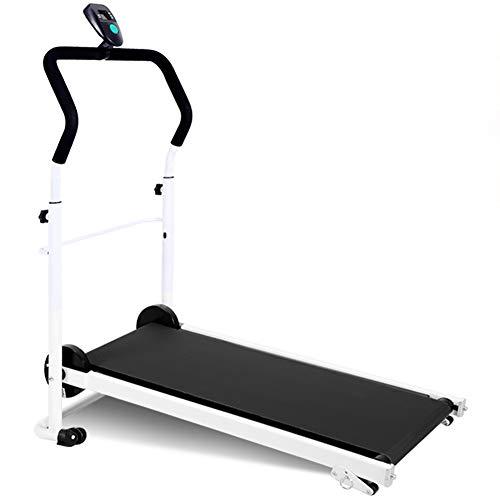 QFF@ fitnessuitrusting, opvouwbaar, niet elektrisch, mini-loopmat, mechanisch, multifunctioneel, handmatig, maximale draagkracht tot 120 kg