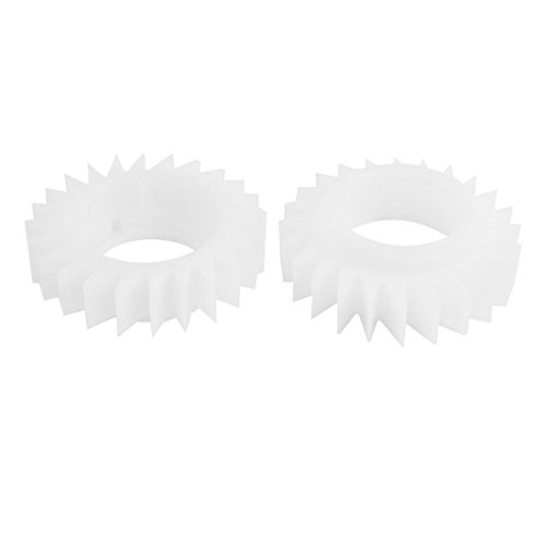 2 STKS Wit 24 Tanden Koppeling Ratelwiel voor LG Wasmachine