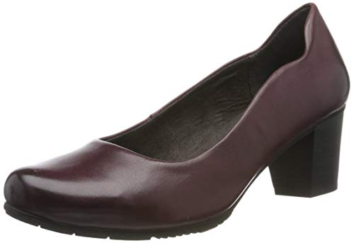 Jana 100% comfort Damen 8-8-22404-23 Pumps, Rot (Bordeaux 549), 39 EU