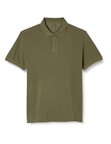 BRAX Herren Style Pelé Garment Dye Piqué Poloshirt, Grün (Olive 34), XXL EU