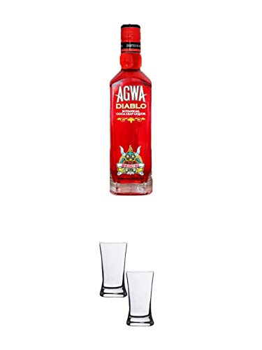 Agwa de Bolivia DIABLO 0,5 Liter + Stölzle Shotglas/Stamper 2 Stück 2050021