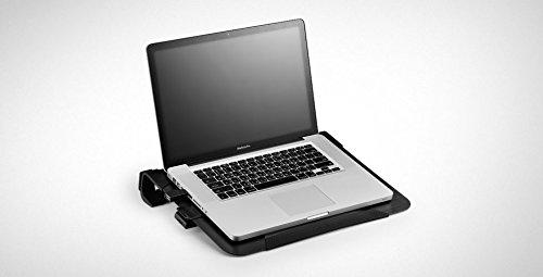 Cooler Master NotePal U3 PLUS Laptop-Kühler - 3 bewegliche 80-mm-Lüfter, Transportschutz, ergonomischer Aluminiumrahmen - Schwarz