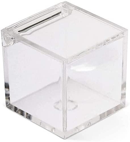 50 Scatoline in plexiglass cubo 5x5x5 cm Trasparente per Confetti, bomboniere e confettate per Ogni Cerimonia