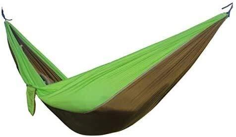 Wxqym Hamaca ligera de nailon portátil Hamaca, la mejor hamaca de paracaídas doble para mochila, camping, viajes, playa, paddock. 266 x 142 cm (color: -, tamaño: -)