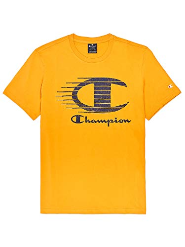 Champion Camiseta Crewneck Ys081 Amarillo S