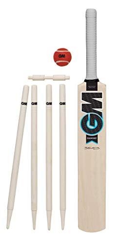 Gunn & Moore Kinder G&M Cricket Set Diamond, Schwarz/Blau/Weiß, Größe 5