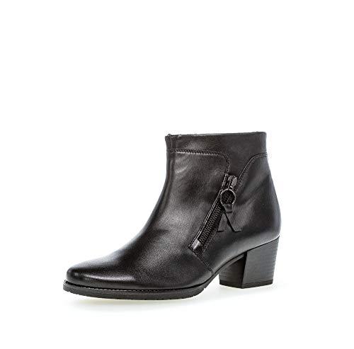 Gabor Damen Stiefeletten, Frauen Ankle Boots,Comfort-Mehrweite,Reißverschluss,WARM Gefüttert, Stiefel halbstiefel,schwarz(Nickif.),37 EU / 4 UK
