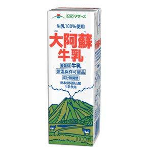らくのうマザーズ 大阿蘇牛乳 1000ml紙パック 12(6×2)本入