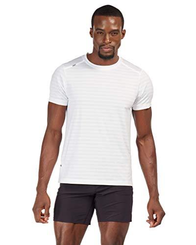 Rhone Swift Short Sleeve White Large | Breathable Lightweight Moisture Wicking Anti-Odor Workout Shirt