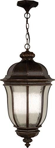 "Craftmade Z3321-PRO Harper Outdoor Ceiling Pendant Lighting, 3-Light, 180 Watts, Peruvian Bronze (12"" W x 24"" H)"