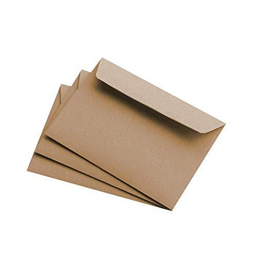 50 Stück Kraftpapier Muskat Briefumschläge C6 haftklebend, 114 x 162mm, haftklebend, gerade Klappe, ohne Fenster, ohne Futter - PapierDirekt