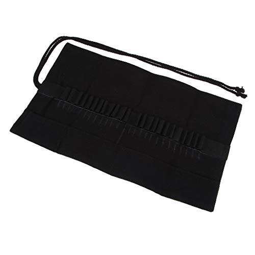 Leinwand Stifterolle Federmäppchen für Buntstifte Pinsel Set für Acryl Öl Aquarell Rollmäppchen Schreibmappe Stifteetui - 330x195x3mm