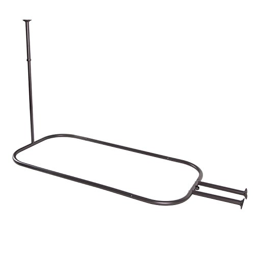 Utopia Alley Rust Free Hoop Shower Rod for Claw Foot Tubs, Oil Rubbed Bronze