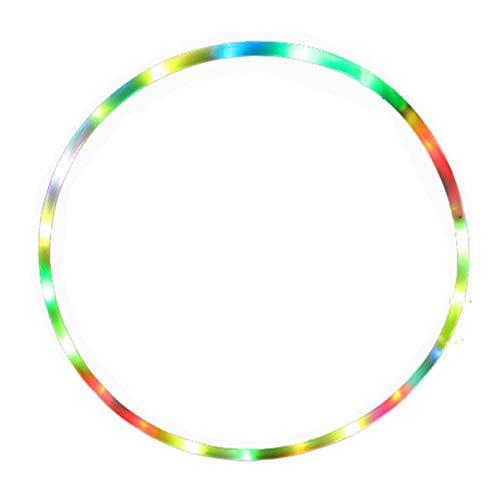 OakHills Aro Hoola con luz LED para niños de 28 pulgadas y 14 luces de color estroboscópicas