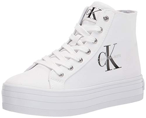 Calvin Klein Damen Bailee Sneaker, Weiß 115, 37 EU