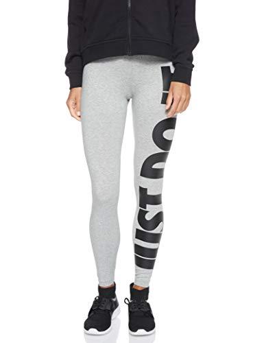 Nike Damen Sportswear Leg-A-See Leggings, Dark Grey Heather/Black, S