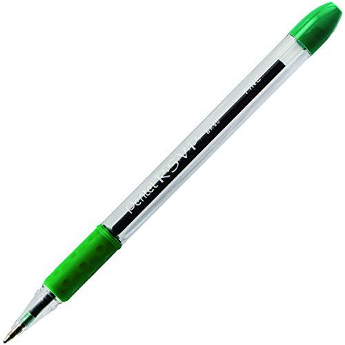 Pentel R.S.V.P. Ballpoint Pen, 0.7mm Fine Tip, Green Ink, Box of 12 (BK90-D)
