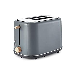 Tower Scandi 2-Slice Toaster with Adjustable Browning Control, 7 Toasting Functions, Cancel, Defrost and Reheating Settings, Stylish Scandinavian Design, 800 W