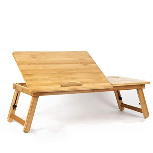 Pkfinrd met lade bamboe materiaal/klein draagbaar voor bed/laptop bureau/staande werkbank/ontbijt lade, hoogte verstelbaar/hoek verstelbaar/opvouwbaar, geschikt voor thuis/kantoor/bank vloer