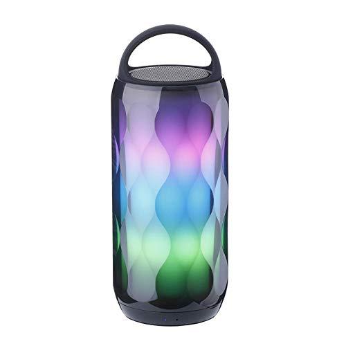 YWSZY LED Bunte Lichter Lautsprecher tragbaren drahtlosen Lautsprecher Freisprecheinrichtung Bass Audio Stereo High-Fidelity-Bluetooth-Lautsprecher @ A