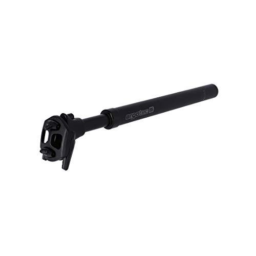 ergotec Unisex– Erwachsene SP-10.0 Federsattelstütze, Schwarz, Einheitsgröße
