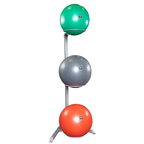 Body-Solid GSR10 Stability Ball Rack, Vertical Storage for Home and Commercial Gym, Grey/Black