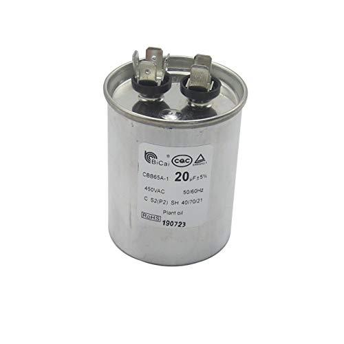 Meter Star ROHS CQC EN60252-1 Universal Air Conditioning Compressor Start-up Capacitor 20-75uf CBB65A-1 450VAC 50/60Hz C S2(P2) SH 40/70/21 Plant Oil (60uf)